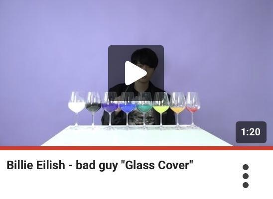 Billie Eilish - Bad Guy played on glasses