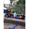 The children enjoyed playing outside...