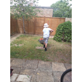 Elliot helping in the garden!