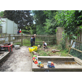 The garden and mud kitchen