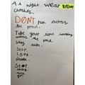 Yasmin's road safety poster