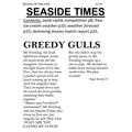 Peggy's final newspaper report
