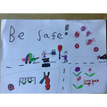 Holly's road safety poster
