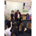 The children enjoyed meeting Dilys.