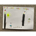 Isla's road safety poster