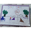 Lacey's road safety poster
