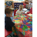 They explored the Numicon number plates...