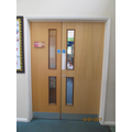 The classroom door