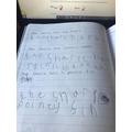 Poppy's writing