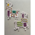 Jack's cross stitch llamas