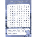 Simeon loved the wordsearch.