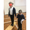 We tested our instructions using blind folds