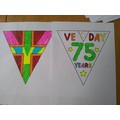 Very neat and colourful VE day bunting!