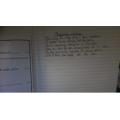 Abi's writing start
