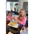 Banana Cake making - delicious!