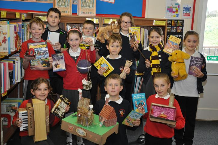 Pupils with their favourite books!