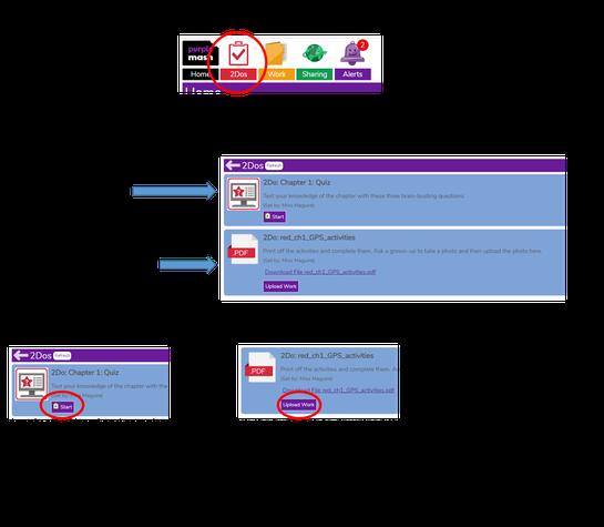 How to upload work to Purple Mash