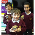 Our finished 'Bird Puddings'.