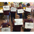 World Book Day! We drew the shark from 'Shark in the park' by Nick Sharratt.