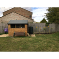 Hardwick outdoor area and gardening shed