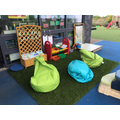 Reception outdoor reading area at Cambourne