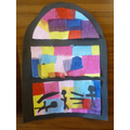 In Year 3/4 we made stained glass windows representing key events in Jesus' life.