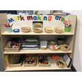 Nursery introduction to mark making area