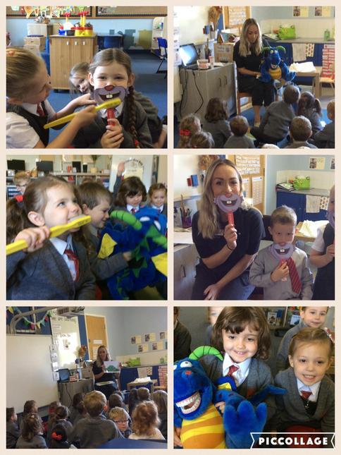 Mrs Smyth, the dentist, visited P1!