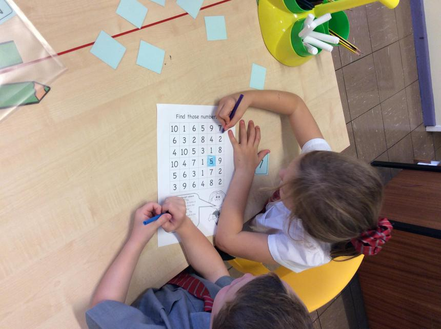 P2K enjoyed playing 'Find those numbers'.