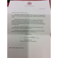 Reply from Buckingham Palace