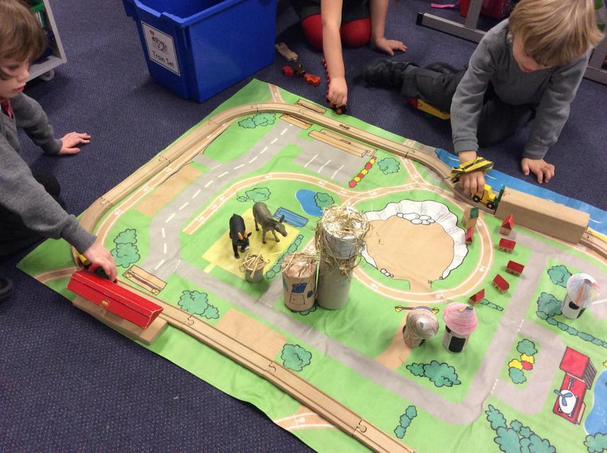 We made an African village.