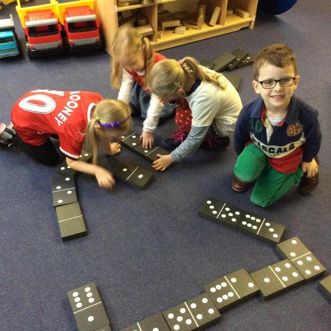 Number work using Dominoes