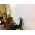Drawing symmetrical pictures on the whiteboard