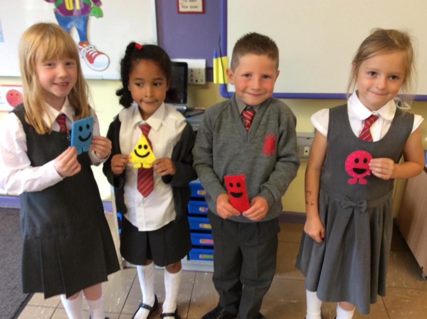 We have been learning about 2D shapes.