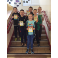 P6 Award Winners pictured before they went on trip