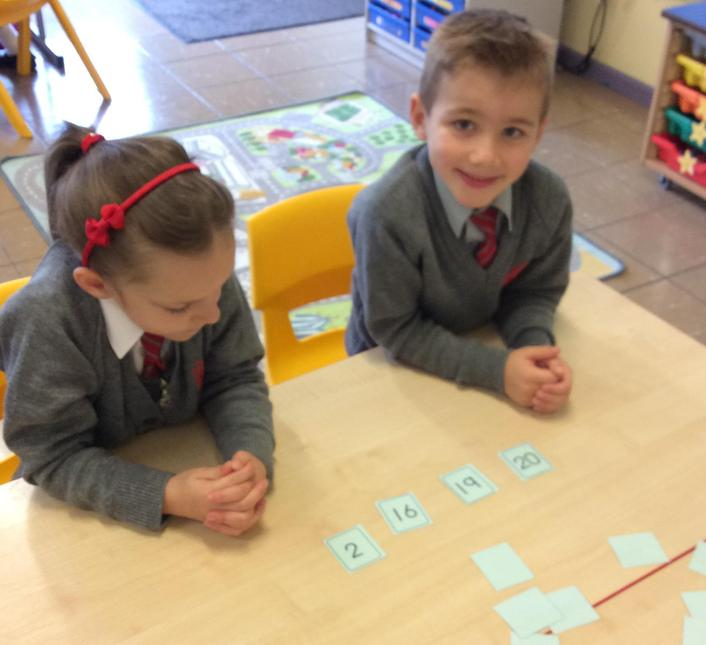 Ordering numbers smallest to largest.