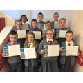 Our first P5 Accelerated Reader Awards - Well Done