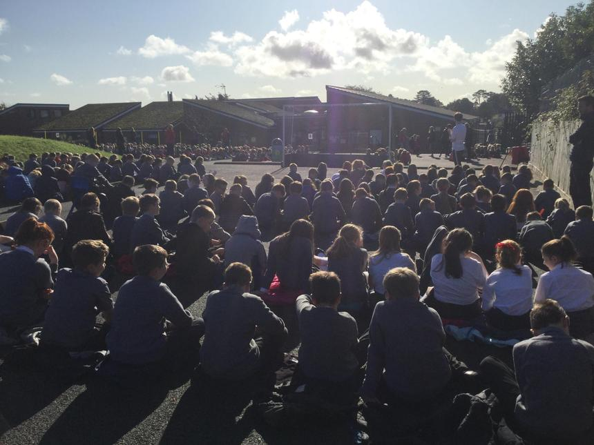 ASSEMBLY OUTDOORS!