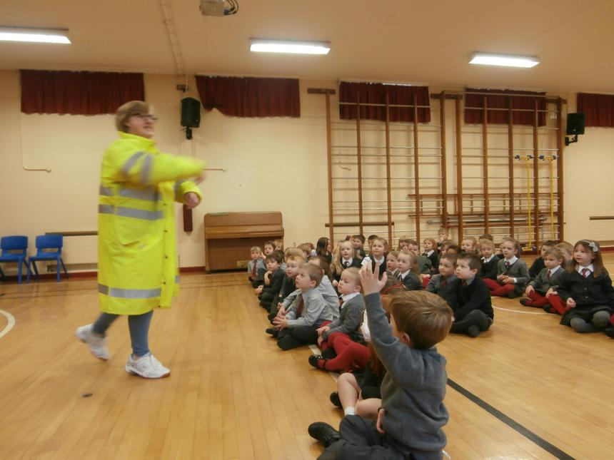 Road Safety talk by Mrs McNally