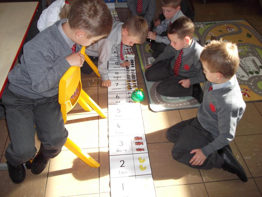 We programmed Bee-bot to travel to given numbers.
