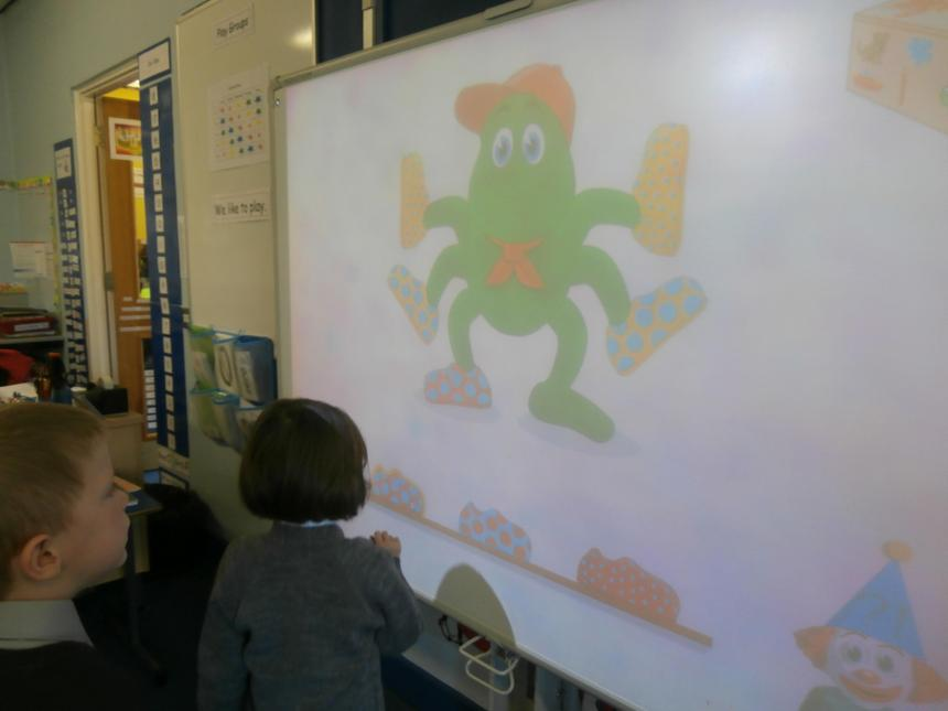 Working on the Interactive White Board