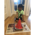 1C Advay - volcano making