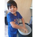 1M Arham - having fun cooking