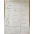 Lily's Measuring Work