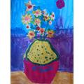 Amelia's 'Sunflower' painting (Van Gogh Art)
