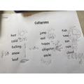 Lara - caligrams
