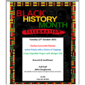Black History Month Menu - Tues 12th Oct