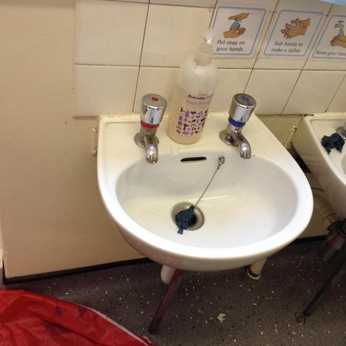 Basin in Toilet Area
