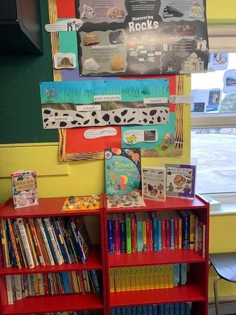 Learning space - new books and posters in Year 3