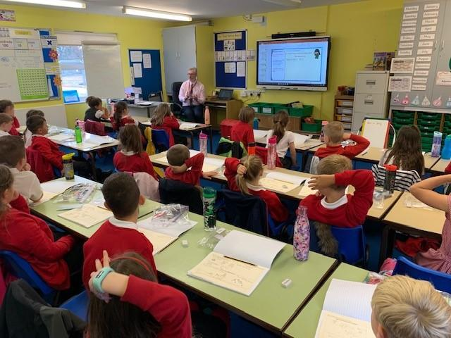 Year 3 listening to the teacher